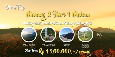 Open Trip Malang 2 Hari 1 Malam tickets