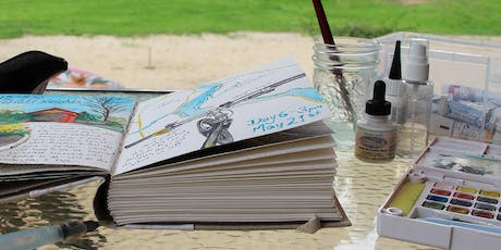 Intro to Creative Journaling- with Drawing, Ink & Watercolour (day retreat) tickets