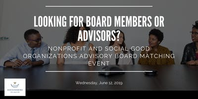 Board Member Matching Event for Nonprofits and Social Good Organizations