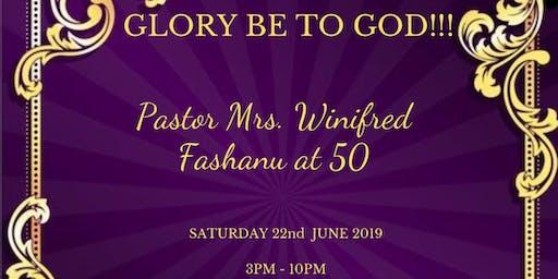 Pastor Winnie's 50th