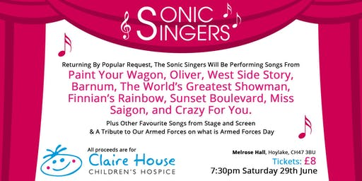 MORE SONGS FOR CLAIRE HOUSE BY THE SONIC SINGERS