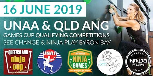 Qld - Cup, ANG & UNNA Ninja games Qualifying Comp (Adults+kids)