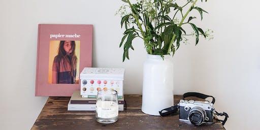 """Workshop stylisme et photographie par Sweet Cabane : """"élégance et simplicité """", Paris."""