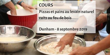 Cours: pizzas et pains au levain naturel cuits au feu de bois billets