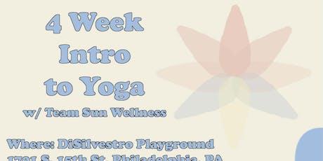 4 Week Intro to Yoga w/ Team Sun Wellness tickets