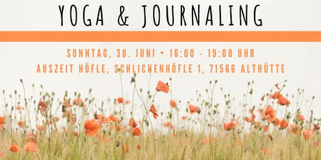 Yoga&Journaling Tickets