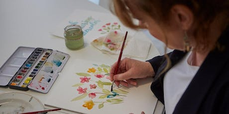 Florales Watercolor Workshop - mit Pinselschrift Tickets