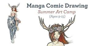Manga Comic Drawing - Summer Art Camp 2019 (Ages 9-15)