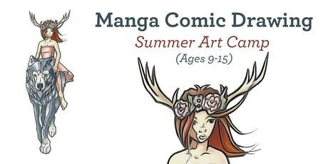 Manga Comic Drawing - Summer Art Camp 2019 (Ages 9-15) tickets