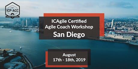 Agile Coach Workshop with ICP-ACC Certification - San Diego - Aug entradas