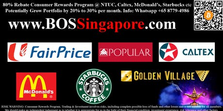 Consumer Rewards Program with 80% rebate @ NTUC, Caltex, McDonald's etc tickets