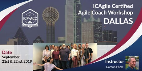 Agile Coach Workshop with ICP-ACC Certification - Dallas - Sep tickets