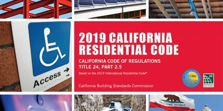 California Residential Code Updates tickets