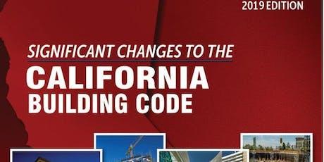 California Building Code Updates tickets
