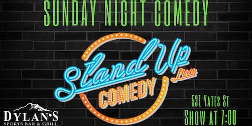 Sunday Night Comedy @ Dylan's Sports Bar & Grill