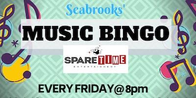 SEABROOKS' MUSIC BINGO!GREAT MUSIC, AWESOME PRIZES,FREE FUN! SPARETIME ENT