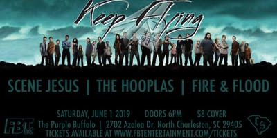 Keep Flying, Scene Jesus, The Hooplas, and Fire & Flood at Purple Buffalo