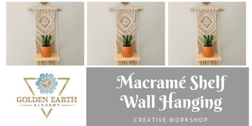 Macramé Shelf Wall Hanging Workshop