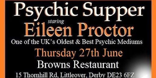 Browns Restaurant (DERBY) Psychic Supper - Eileen Proctor