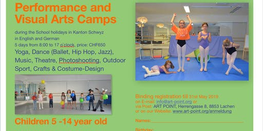 Performance and Visual Arts Summer & Autumn Camps 2019