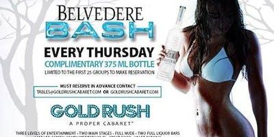 Belvedere Bash at Gold Rush Cabaret Guestlist - 5/30/2019