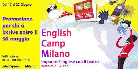 English Camp Milano|Bambini 8-12 anni biglietti