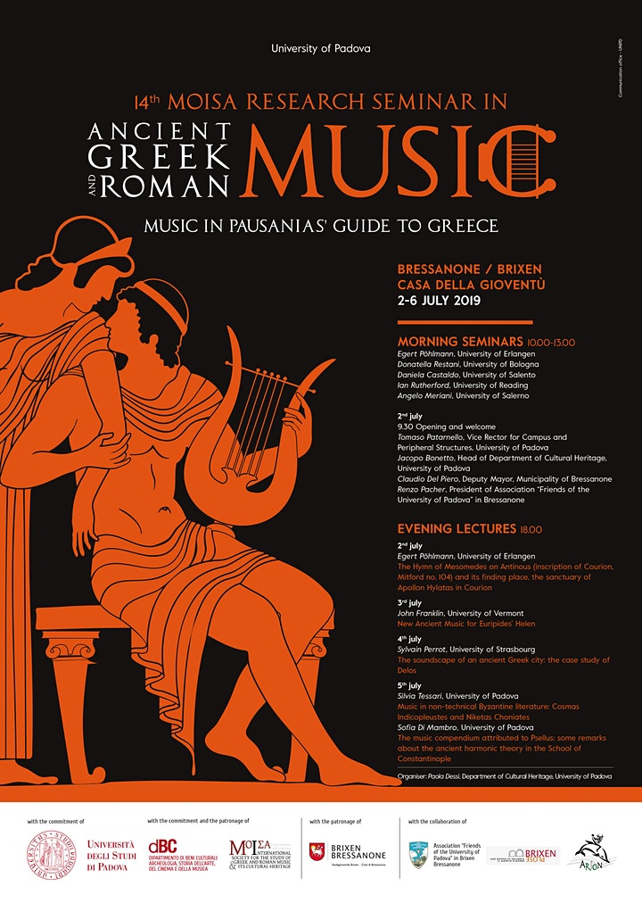 14th Moisa Research Seminar on Ancient Greek and Roman Music image
