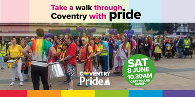 Coventry Pride 2019 walking parade