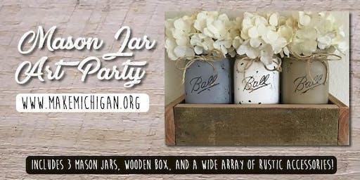Mason Jar Art Party