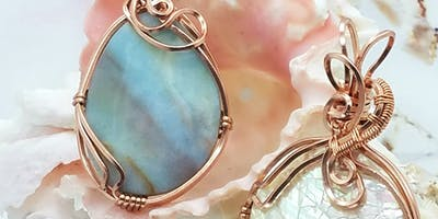 Simply Qute Wire Wrap Pendant - Jewelry Making