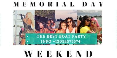 #Miami Memorial Day Boat Party Unlimited Drinks,Food -Jet Ski & Banana boat