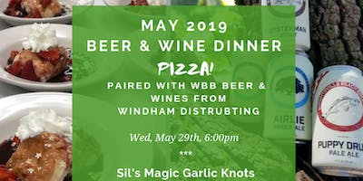 It's a PIZZA themed beer and wine pairing dinner!