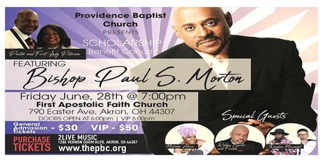 PBC Scholarship Benefit Concert - Featuring Bishop Paul S. Morton tickets
