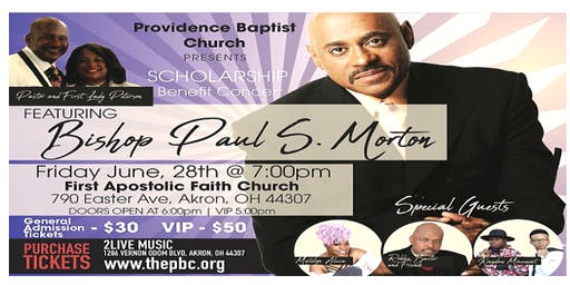 PBC Scholarship Benefit Concert - Featuring Bishop Paul S. Morton
