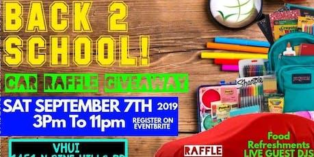 VHUI Back 2 School Car Raffle Giveaway tickets