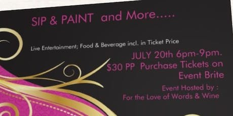 SIP & PAINT & MORE.... tickets