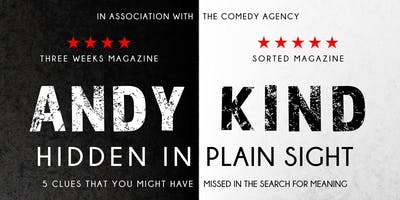 """Comedy Night  With Andy Kind - \""""Hidden In Plain Sight\"""""""
