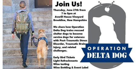 Operation Delta Dog of Hollis, NH. Inaugural Sit & Sip for Service Dogs! tickets