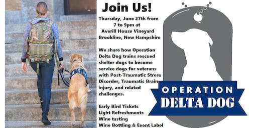 Operation Delta Dog of Hollis, NH. Inaugural Sit & Sip for Service Dogs!