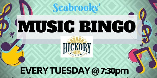 SEABROOKS' MUSIC BINGO!GREAT MUSIC,AWESOME PRIZES,FAMILY FUN! HICKORY TAV