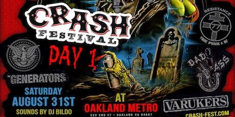 Crash Fest II Day 1 featuring Conflict Agent Orange Varukers  plus more tickets