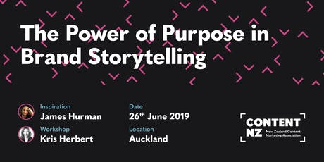 Content Mastery Part 1: Purpose and Storytelling with James Hurman tickets