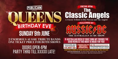 Queens Bday Eve feat The Classic Angels plus Aussic DC at Publican!