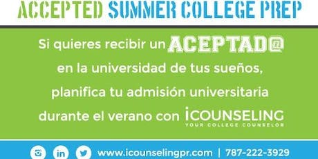 Accepted Summer College Prep entradas