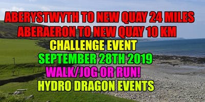 Aberystwyth to New Quay 24 Mile.Aberaeron to New Quay 10km Walk/Jog or Run