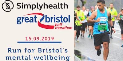 Bristol Half Marathon - Run for Bristol's mental wellbeing