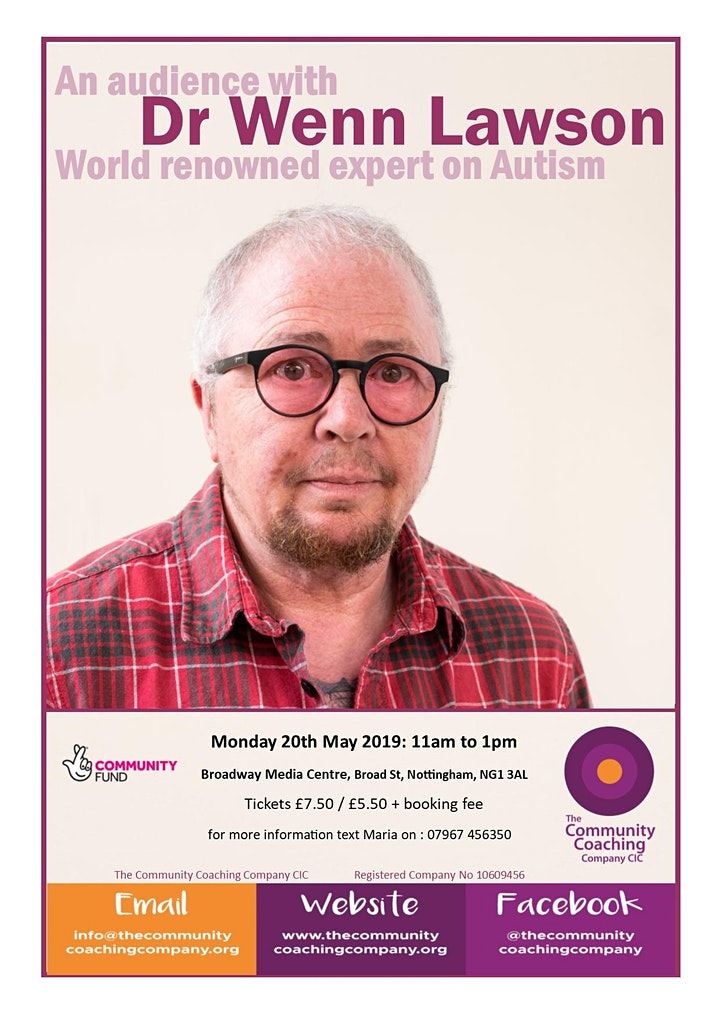 An Audience with Dr Wenn Lawson - world renowned expert in autism image