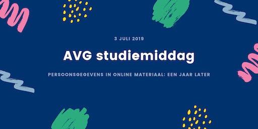 AVG studiemiddag – Persoonsgegevens in online materiaal: een jaar later