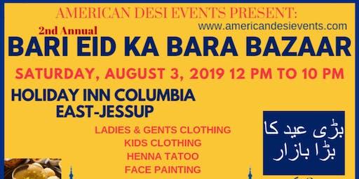 2nd Annual Bari Eid Ka Bara Bazaar Vendor Registration