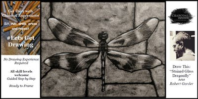 "Charcoal Drawing Event ""Stained Glass Dragonfly"" in Verona"
